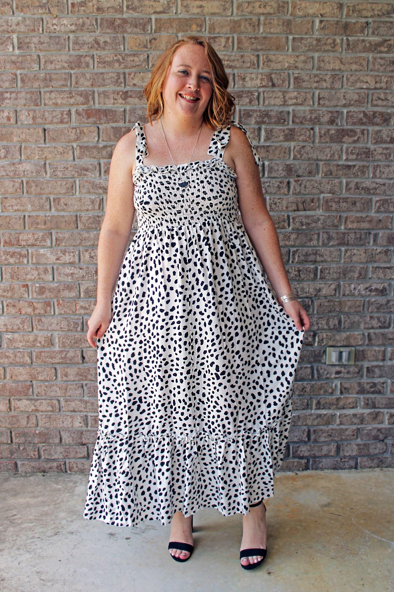 tie strap maxi dress