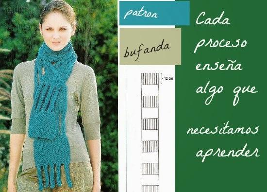 Bufanda de tiras de crochet punto arroz
