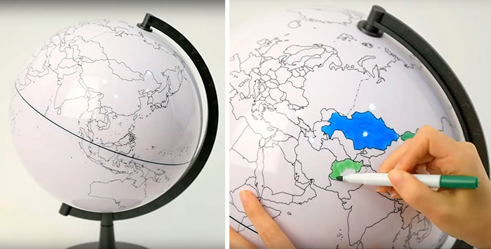 15+ Of The Best Traveler Gift Ideas Besides Actual Plane Tickets - Blank Globe Which Lets You Color In The Places You've Been To