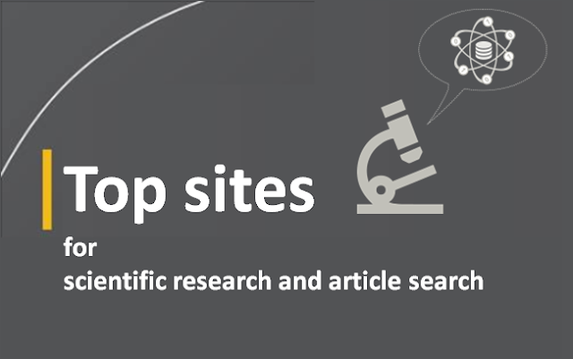 Top sites for scientific research and article search