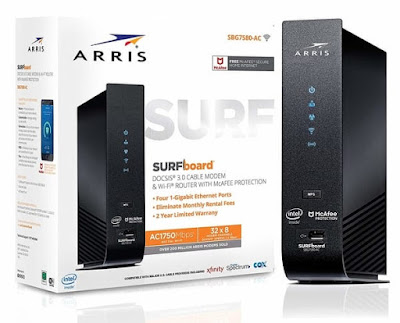 ARRIS SURFboard Model SBG7580AC-MCAFEE Cable Modem