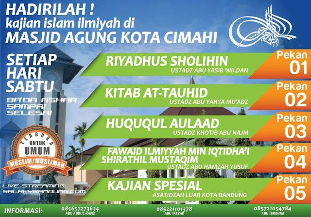 Informasi Jadwal Kajian Salafi di Cimahi