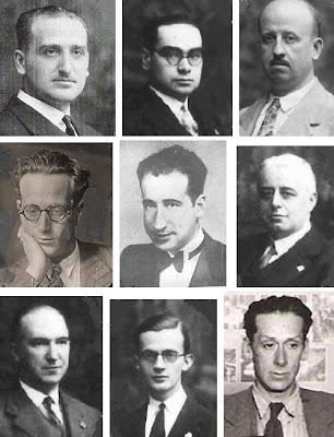 Algunos de los ajedrecistas participantes en el Torneo Nacional de Ajedrez Barcelona 1926