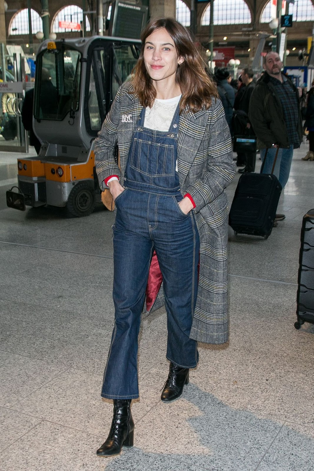 Thanks to Alexa Chung We Want Flared Overalls for Fall