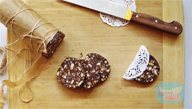 çikolata dilimleri, bisküvili pasta