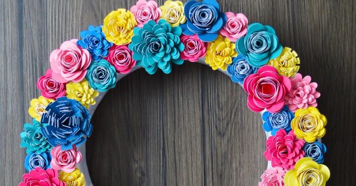 Paper flower wreath artsy fartsy mama mightylinksfo
