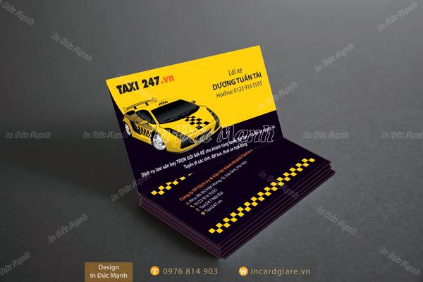 Mẫu card visit Taxi 247