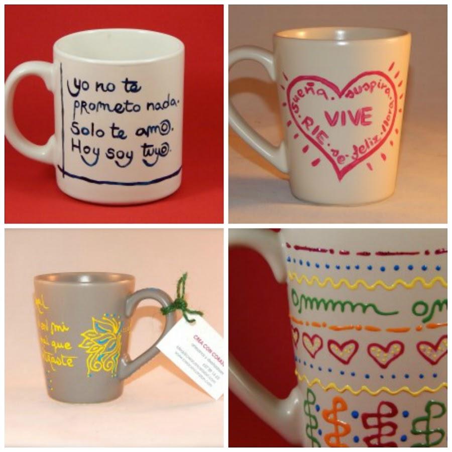 Decora tus tazas con pintura decorativa
