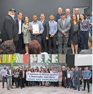 Miracatu marca presença no lançamento do Programa Vale do Futuro