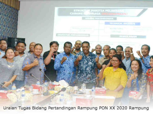 Uraian Tugas Bidang Pertandingan Rampung PON XX 2020 Rampung