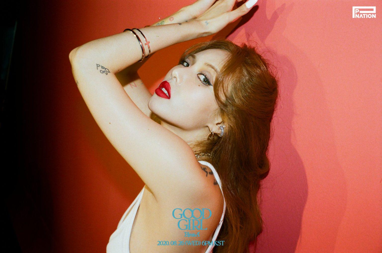 Hyuna Reveals Sexy Teaser Photos for Pre-Release Song 'GOOD GIRL'
