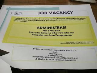 Lowongan Kerja PT Central Georgette Nusantara Terbaru 2020