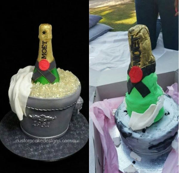 Check out the cake someone ordered vs what she got