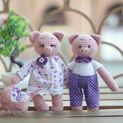 Свинки амигуруми игрушки крючком