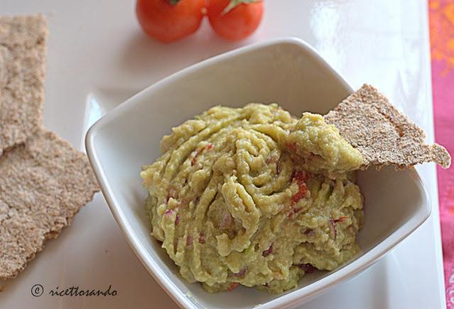 Guacamole salsa di avogado ricetta antipasto estivo