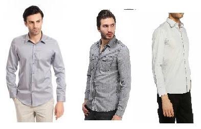 Gri renk erkek gömlek kombinleri