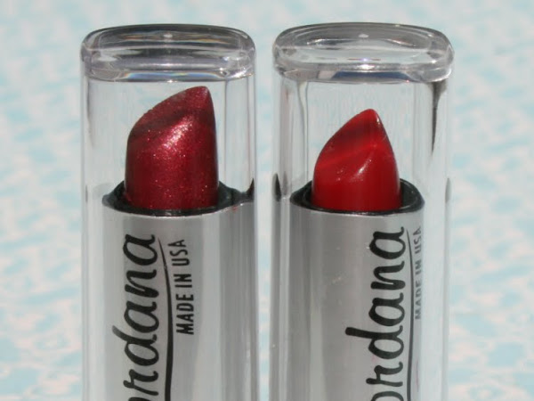 Jordana Lipstick - Cherry and Cranberry Mix Swatches & Review