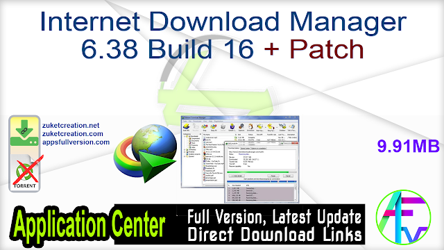 Internet Download Manager 6.38 Build 16 + Patch