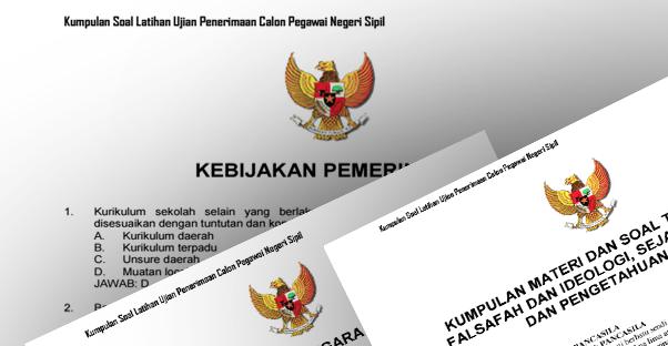Download Contoh Latihan Soal Tes CPNS Terbaru