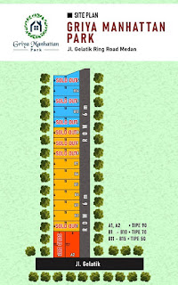 Site Plan Rumah Dekat Mall Manhattan Time Square Ring Road Medan - Double Tembok - Griya Manhattan Park