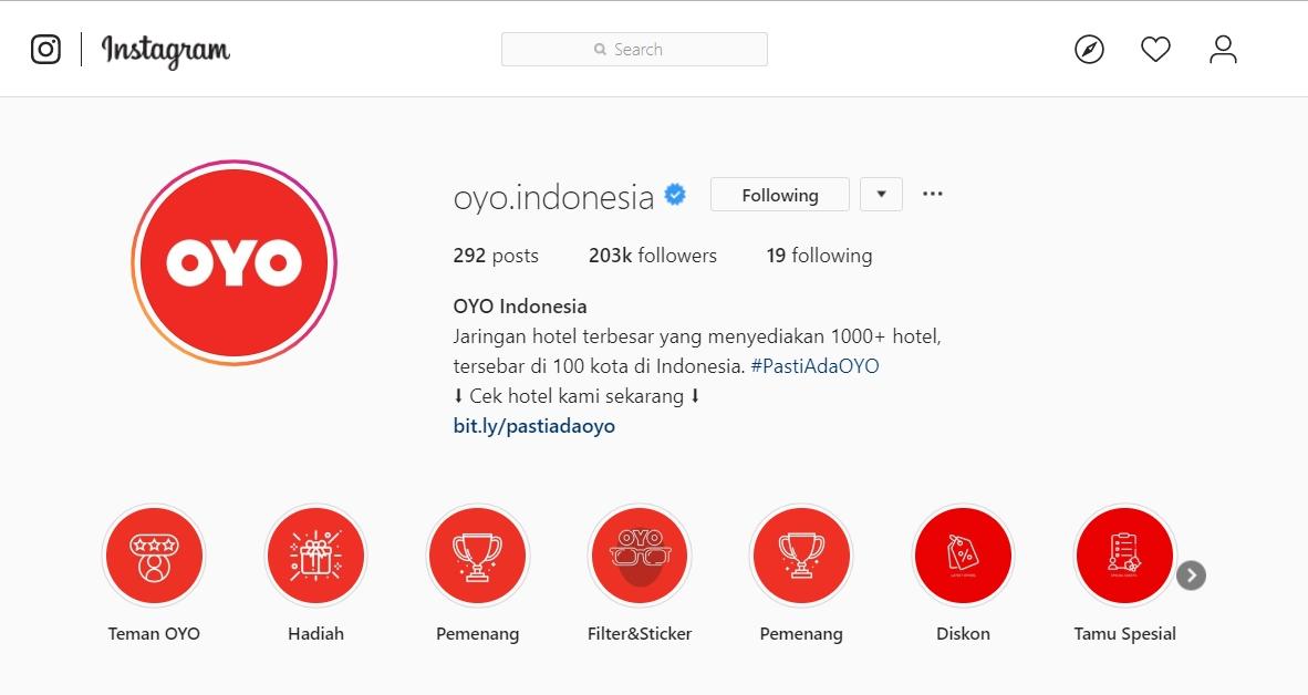 OYO Hotels Instagram