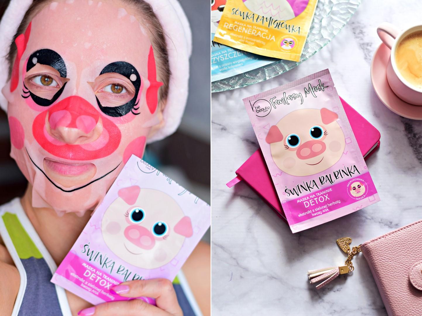 biedronka_be_beauty_maska_na_tkaninie_w_płacie_blog_recenzja_test_efekty_cena_świnka_detox