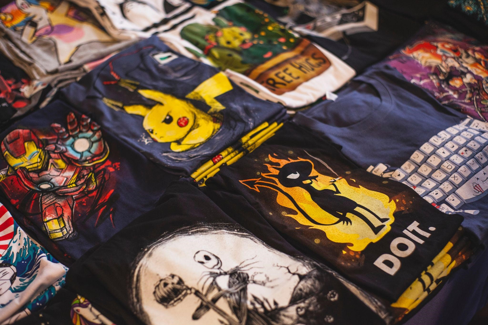 Most Common Types of Fan Graphic T-shirts