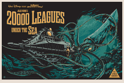 "Mondo x Sideshow Collectibles ""20,000 Leagues Under The Sea"" Disney Screen Print by Ken Taylor"