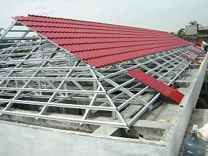 gambar rangka atap baja ringan limasan perhitungan luas konstruksi sipil