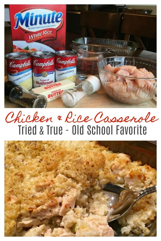 MAMAW'S CHICKEN & RICE CASSEROLE – TRIED & TRUE #recipes #dinnerrecipes #quickdinnerrecipes #food #foodporn #healthy #yummy #instafood #foodie #delicious #dinner #breakfast #dessert #lunch #vegan #cake #eatclean #homemade #diet #healthyfood #cleaneating #foodstagram