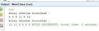 output bubble sort descending java