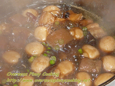Braised Pork Belly and Quail Egg - Cooking Procedure