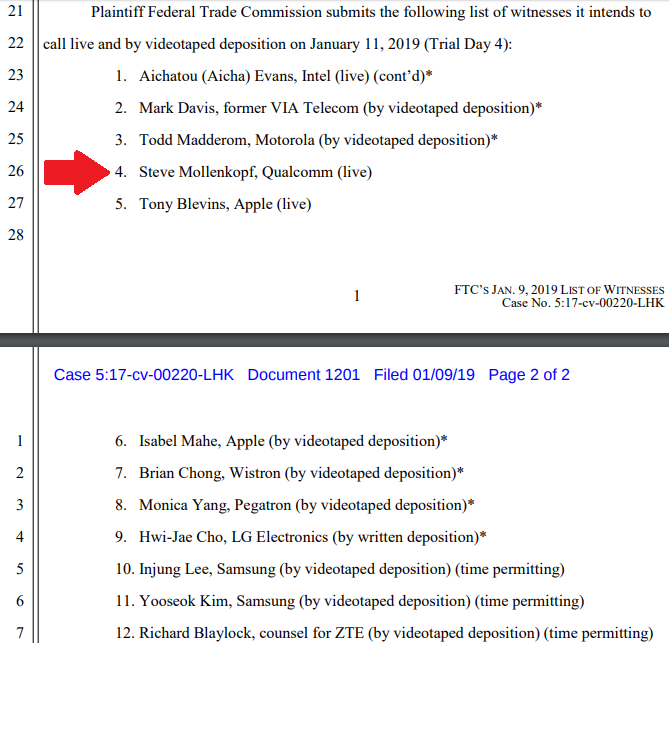 a6cbfb0e1fcb FOSS Patents  Qualcomm CEO Steve Mollenkopf to testify in court on ...