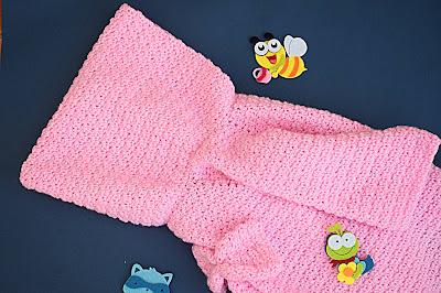 2 - Crochet Imagen Capucha de abrigo rosa por Majovel Crochet