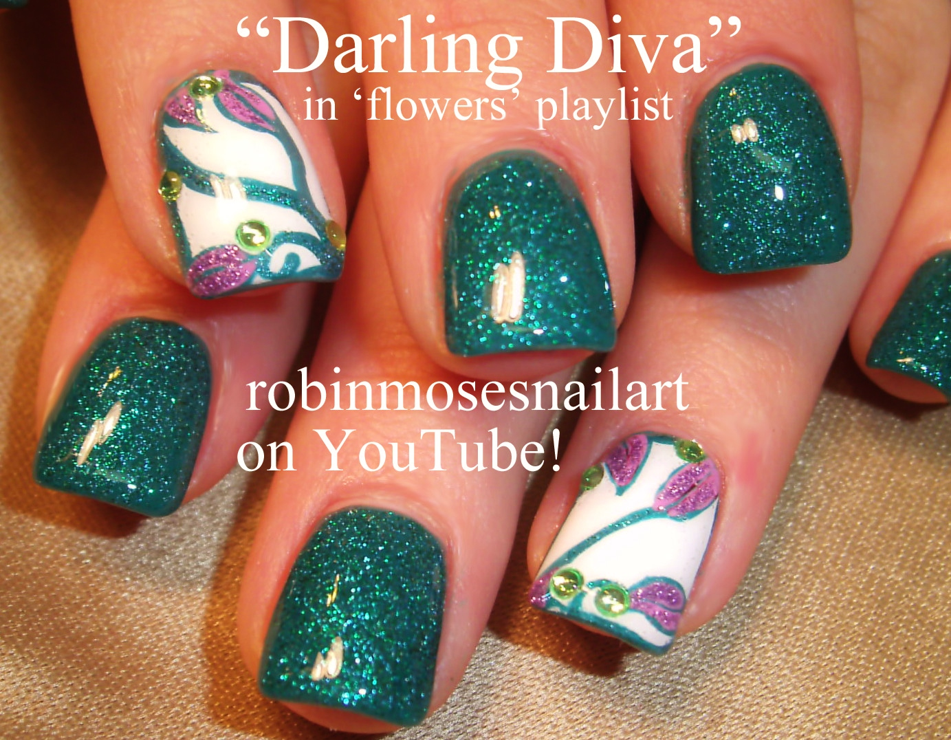 Diva Design: Nail Art Design: Darling Diva Nails, Turquoise Nails, Teal