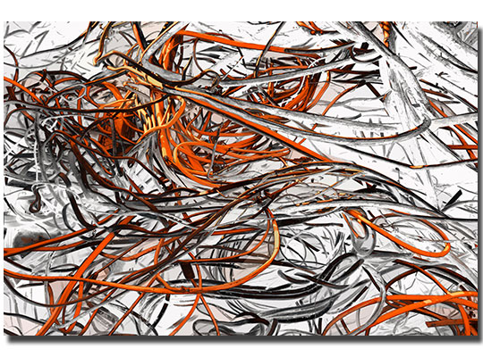 swirl orange art, abstract orange art, modern orange art, orange wall art,