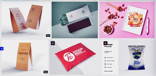Desain Template Snack Mockup & Logo