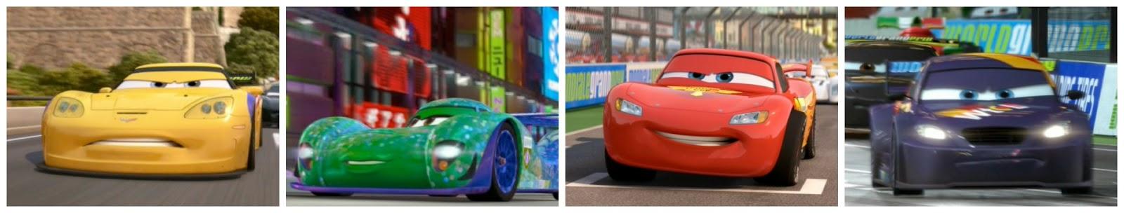 Dan The Pixar Fan Cars 2 Racing 4 Pack Jeff Gorvette Carla