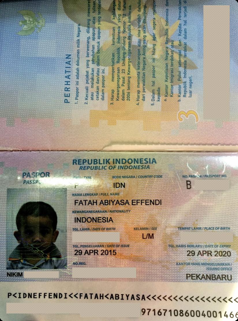 Paspor untuk Anak