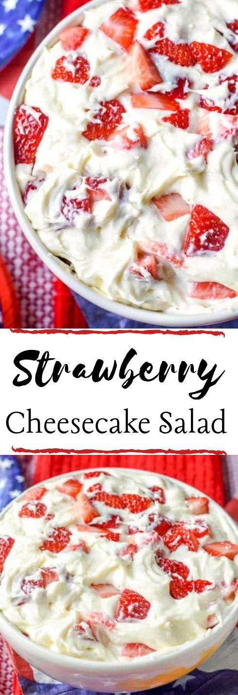 STRAWBERRY CHEESECAKE SALAD #diet #healthyfood #meal #salad #dessert