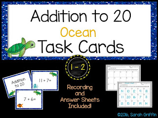 https://www.teacherspayteachers.com/Product/Addition-to-20-Ocean-Math-Center-Task-Cards-2573140