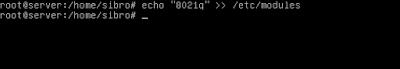 """Setelah itu tambahkan kata """"8021q"""" ke /etc/modules, agar vlan ini permanen dan kalau di restart tidak akan hilang"""