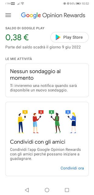 Schermata Google Play Store