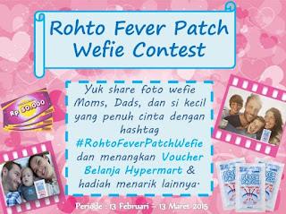 Lomba Foto Rohto Fever Patch Wefie Berhadiah Voucher Hypermart dan Merchandies