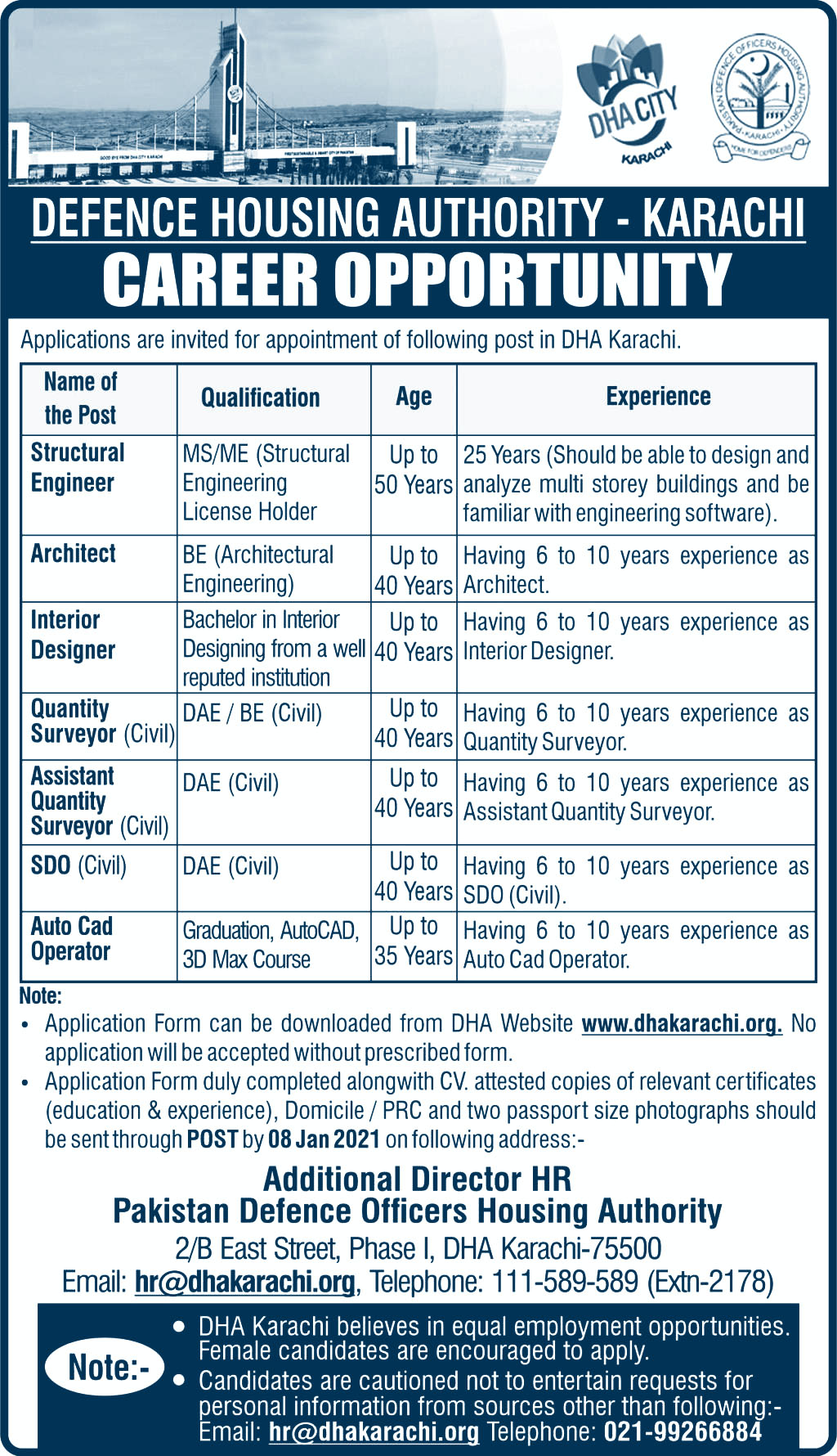 Defence Housing Authority DHA Job latest job search