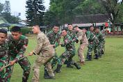 Serunya Lomba Tarik Tambang Prajurit Yonif MR 411 Kostrad dengan U.S.Army di Salatiga