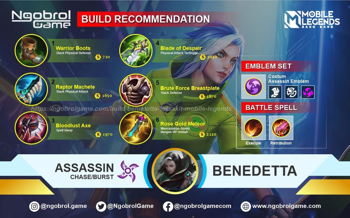 Build Benedetta Tersakit 2021 Mobile Legends