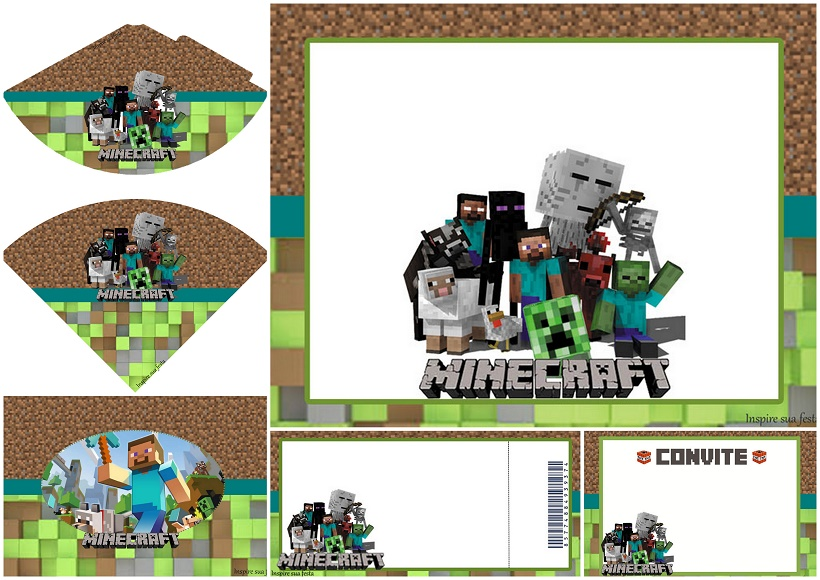Printable Minecraft Invitations for luxury invitation ideas