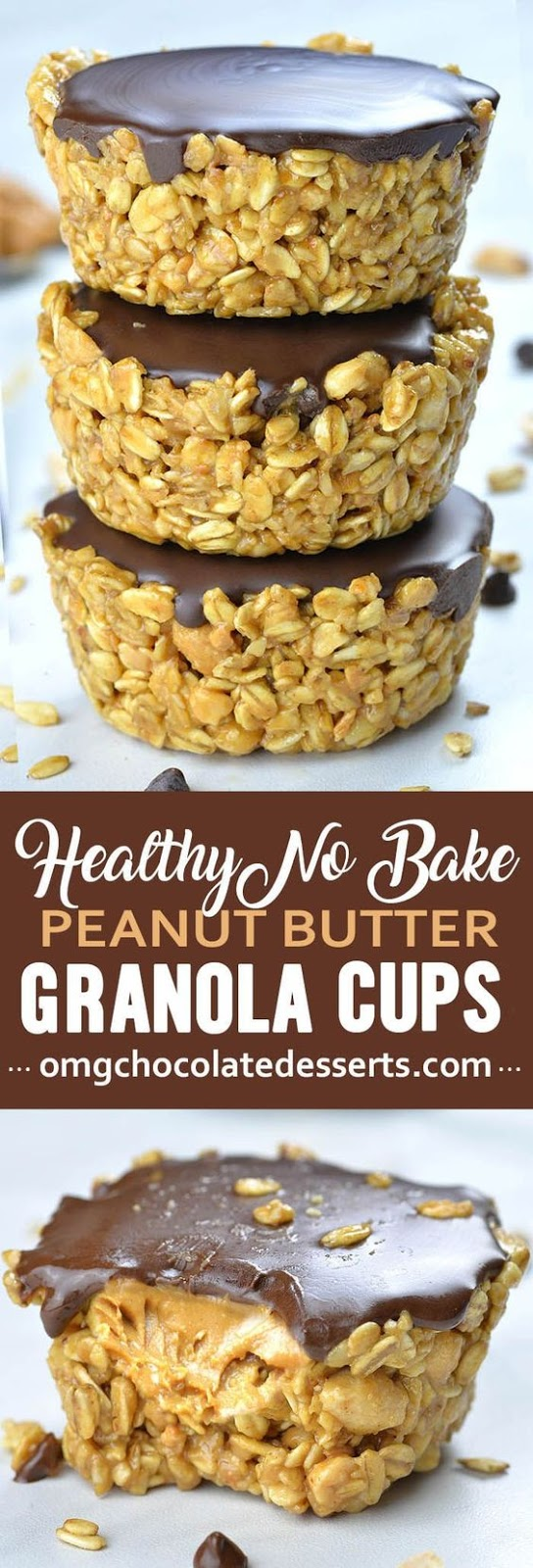 No Bake Peanut Butter Granola Cups #recipes #healthyfoodrecipes #food #foodporn #healthy #yummy #instafood #foodie #delicious #dinner #breakfast #dessert #lunch #vegan #cake #eatclean #homemade #diet #healthyfood #cleaneating #foodstagram