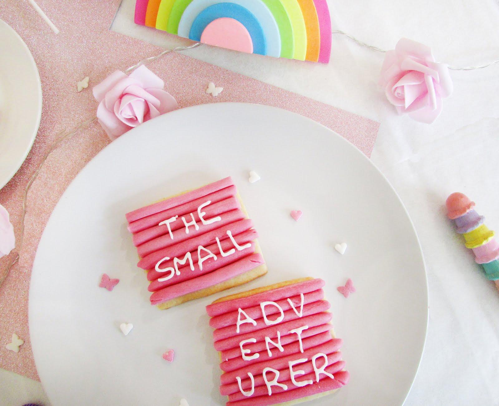 Pink Letter Board Sugar Cookies